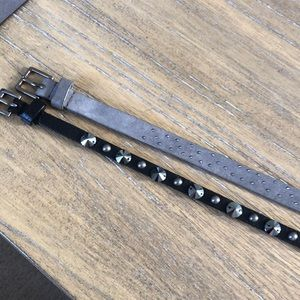 J. Crew Accessories - TWO J.Crew Belts Grey/Black
